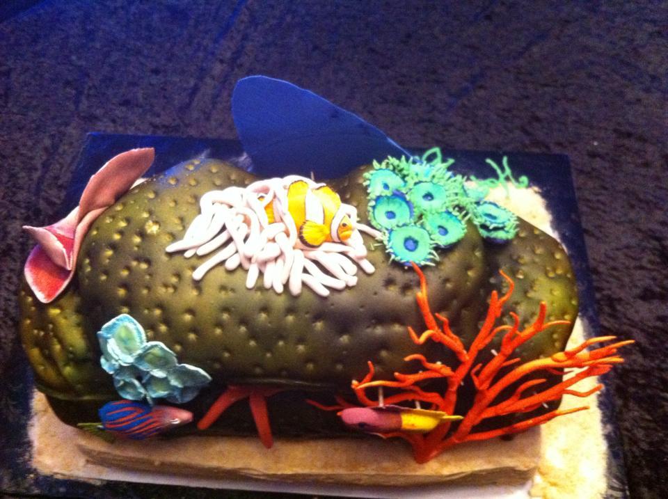Stupendous Aquarium Birthday Cake Funny Birthday Cards Online Necthendildamsfinfo