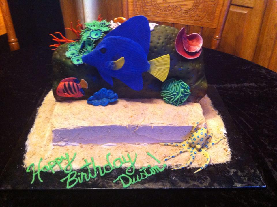 Aquarium Birthday Cake