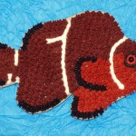 Morse Code Maroon Clownfish Cookie