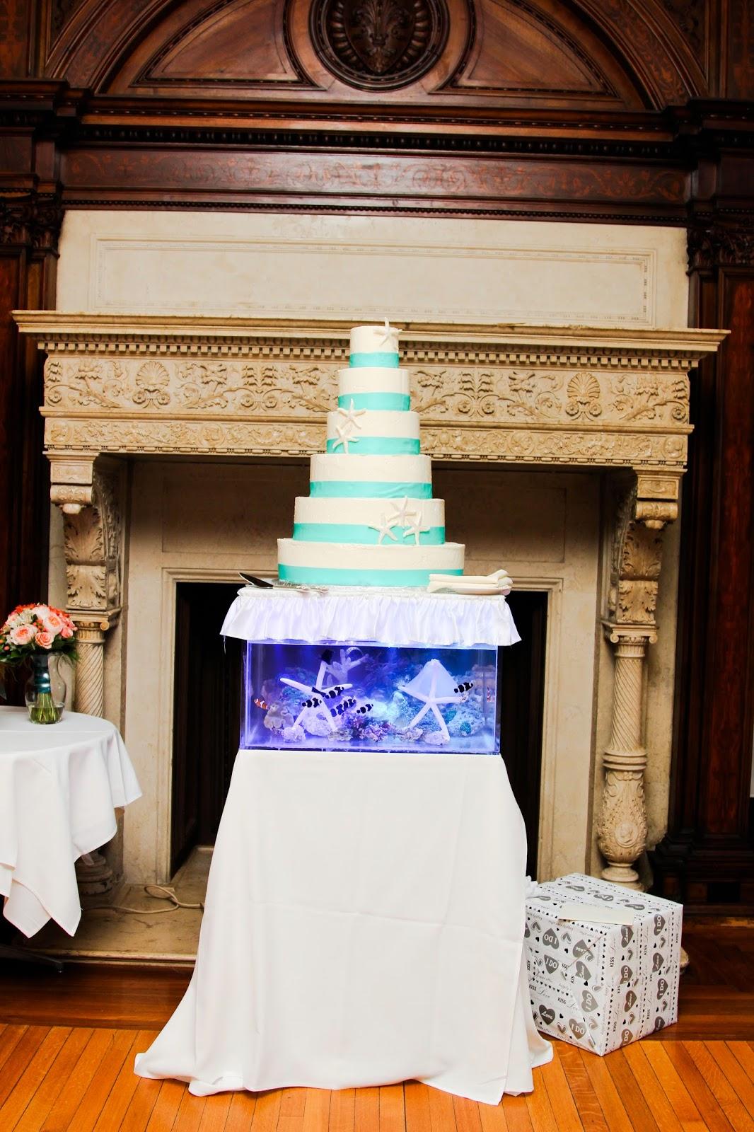 Reef Tank Wedding Cake Reception