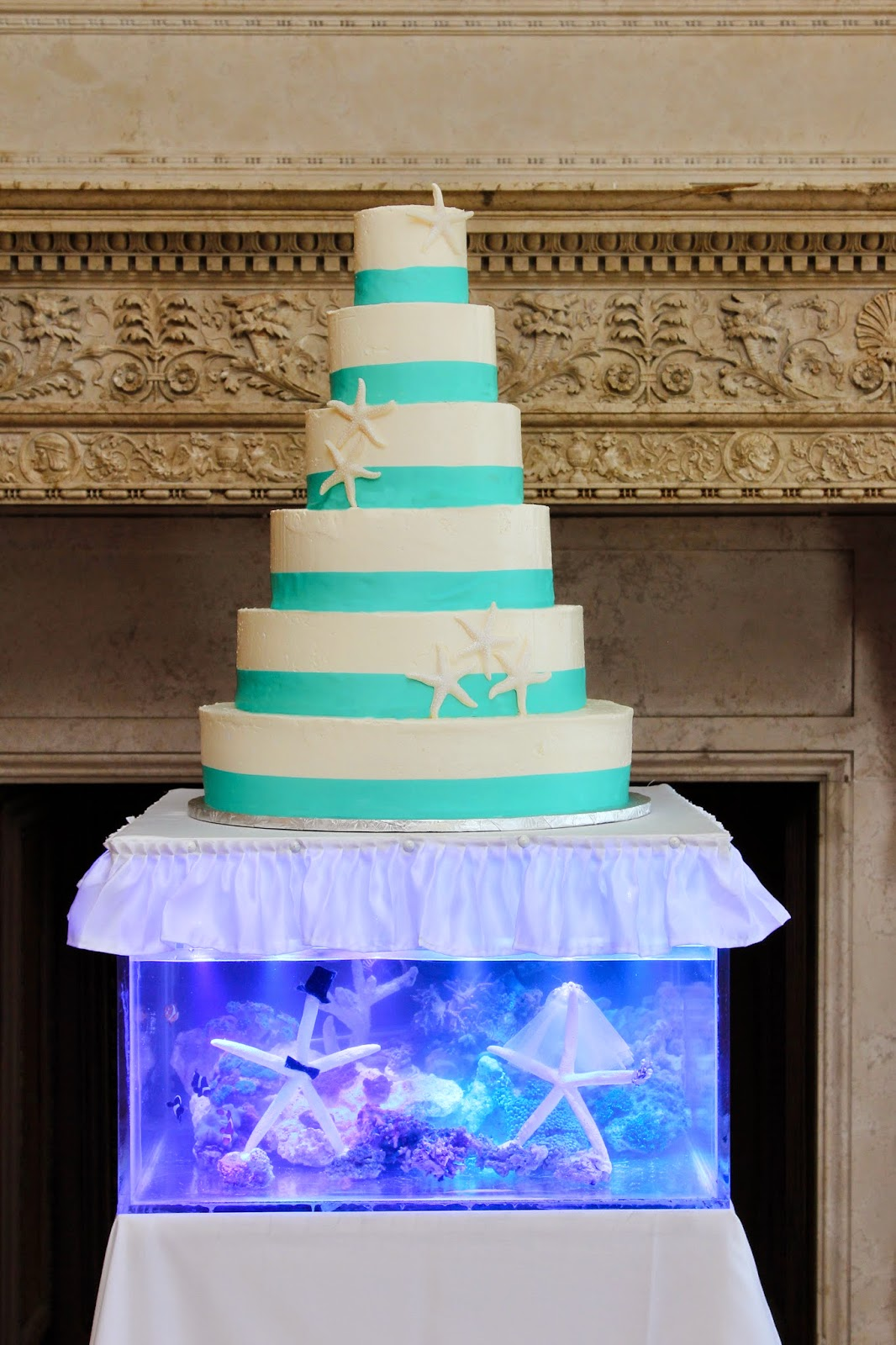 Reef Tank Wedding Cake