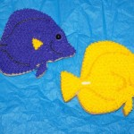 Yellow and Purple Tang Cookie Jason Langer