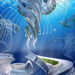 "His Aequorea project imagines entirely self-sufficient, spiraling ""oceanscrapers""."