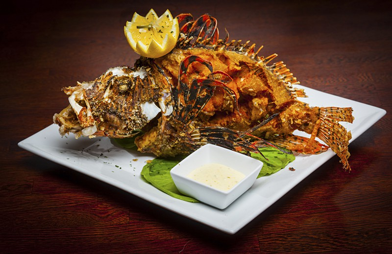 Whole fried lionfish from Fish Fish of Miami, Florida. Photo by Food Republic